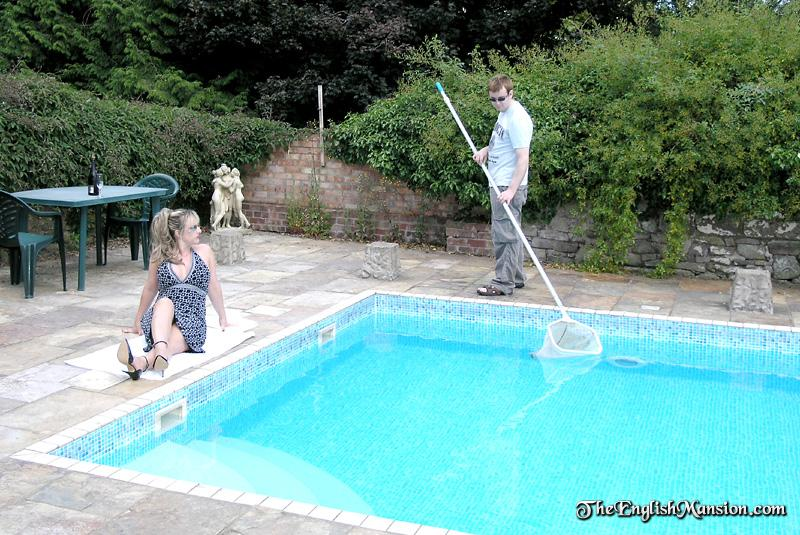 Outdoor femdom action with a swimming coach