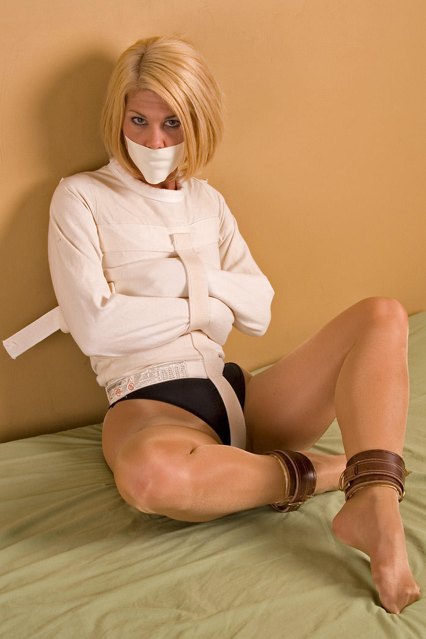 Poor Chick With Short Hair Bounded With Straitjacket Tortured By Her Kinky Mentor