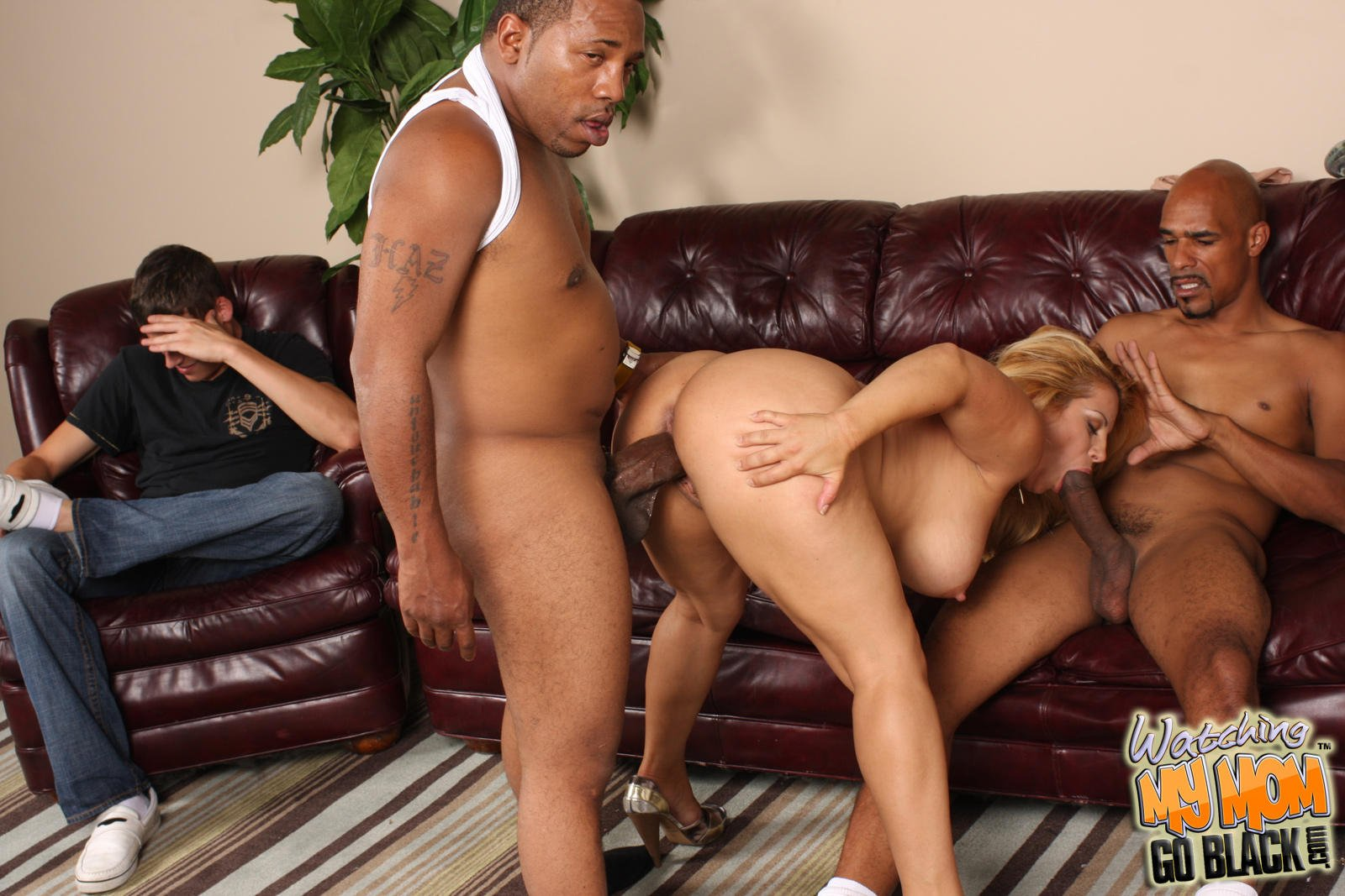 White Milf Open Her Legs Wide For A Black Cock